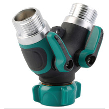 цена на Home gardening garden water pipe joint Y-type double-pass diverter irrigation quick joint fittings water separator