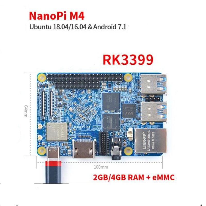 RealQvol FriendlyARM NanoPi M4 2GB/4GB DDR3 Rockchip RK3399