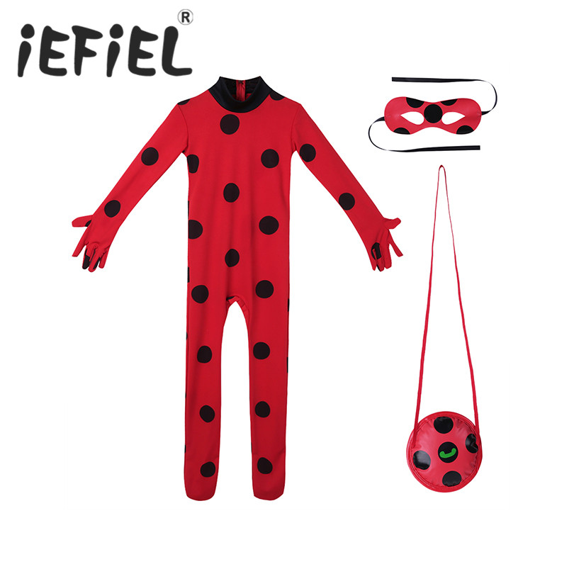 Kids Girls Outfit Romper Jumpsuit with Eye Mask Bag Halloween Cosplay Party Costume Set for Carnival Party Dress Up Clothes