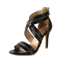 women shoes Womens European and American zipper decorative large size sandals for