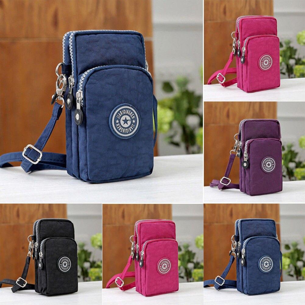 Women Cross-body Mobile Phone Shoulder Bag Pouch Case Belt Handbag Purse Wallet Coin Wallet Retro Key Holder Small Money Bag