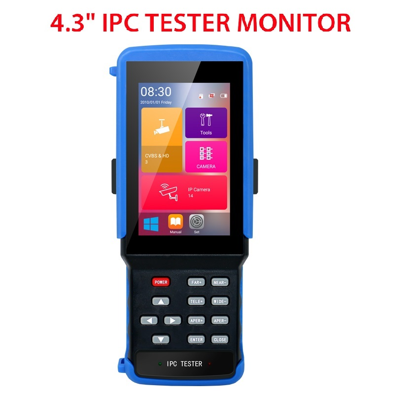 IPC 9310 Wifi 4.3'' 5 In One Touchscreen CCTV Tester For IPC/Analog Camera,IPC 1080P, AHD,CVI,TVI,BNC Network Cable Tester