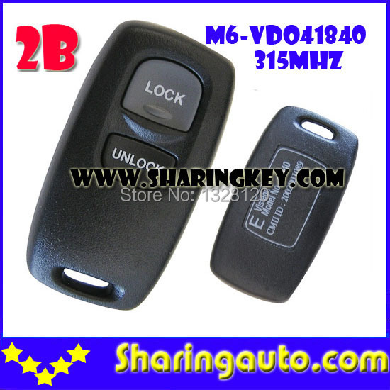 ФОТО Free shipping 2 Button Keyless Remote Control(41840) for Mazda M6 with 315MHZ 1pcs/lot