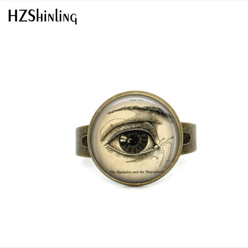 2017 Neue Stil Anatomischen Auge Ring Richtige Auge Einstellbar Ringe Vintage Medizinische Darstellung Wissenschaft Biologie Schmuck Geschenke Männer