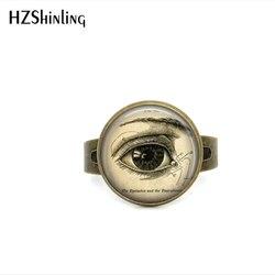 Anel olho anatômico correto, olho anatômico ajustável, anéis vintage, ilustração médica, biologia, presentes para homens, 2017