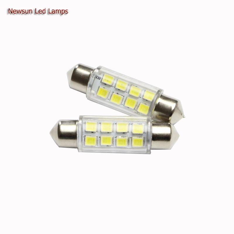 2PCs 39MM 8SMD <font><b>3825</b></font> White Dome Festoon Easy Install Auto Car 8Led C5W <font><b>Led</b></font> Lamp Auto Bulb DC12V Interior Light Reading Lamp