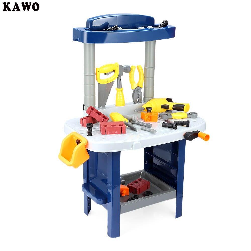 ФОТО KAWO 37pcs Baby Kids Luxury Simulation Repair Tools Box Educational Pretend Play Toy Christmas Gift