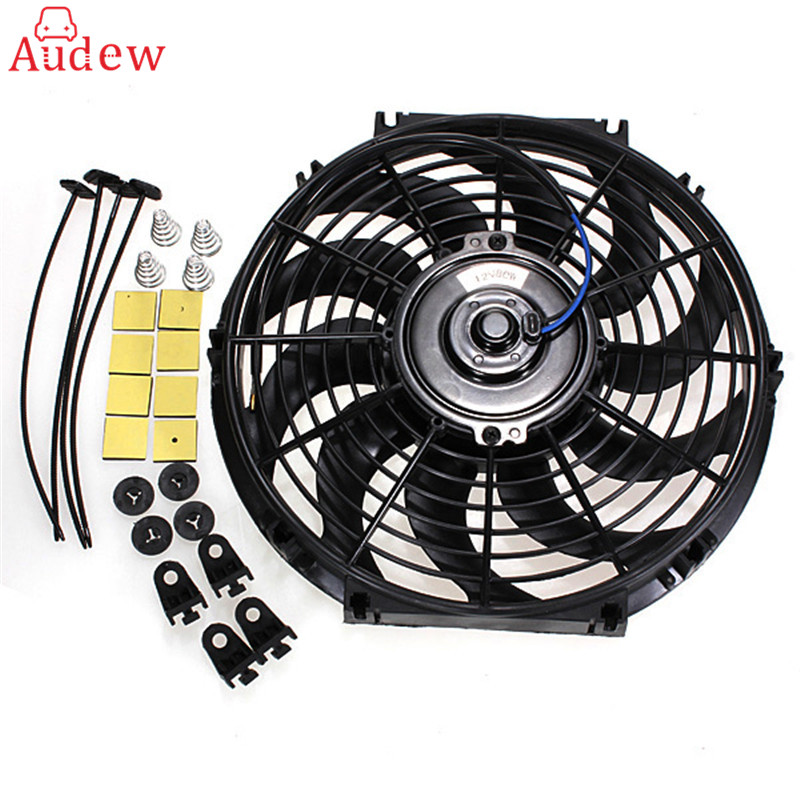 12 Inch 12V 80W Slim Reversible Electric Radiator Cooling Fan Push Pull Easy Install For Universal