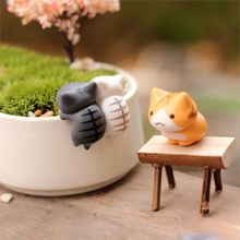 6 PCS Lovely Cute Cartoon Lucky Cats Micro Landscape Kitten Microlandschaft Pot Culture Tools Garden Decorations Miniatures(China)
