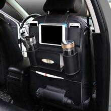 Заднее сиденье автомобиля хранения сумка автомобилей Организатор Универсальный Салонные аксессуары Портативный Многофункциональный автомобиль-Стайлинг багажника напиток держатель ткани
