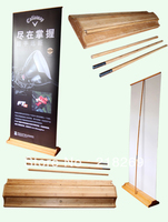 200X80 cm Bamboo roll up banner, bambù pull up banner, roll-up display, bambù visualizza