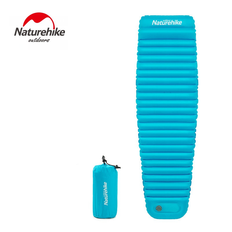 Naturehike Thicken Outdoor Camping Mat Hand Press Inflate Air Mattress Ultralight Sleeping Pad