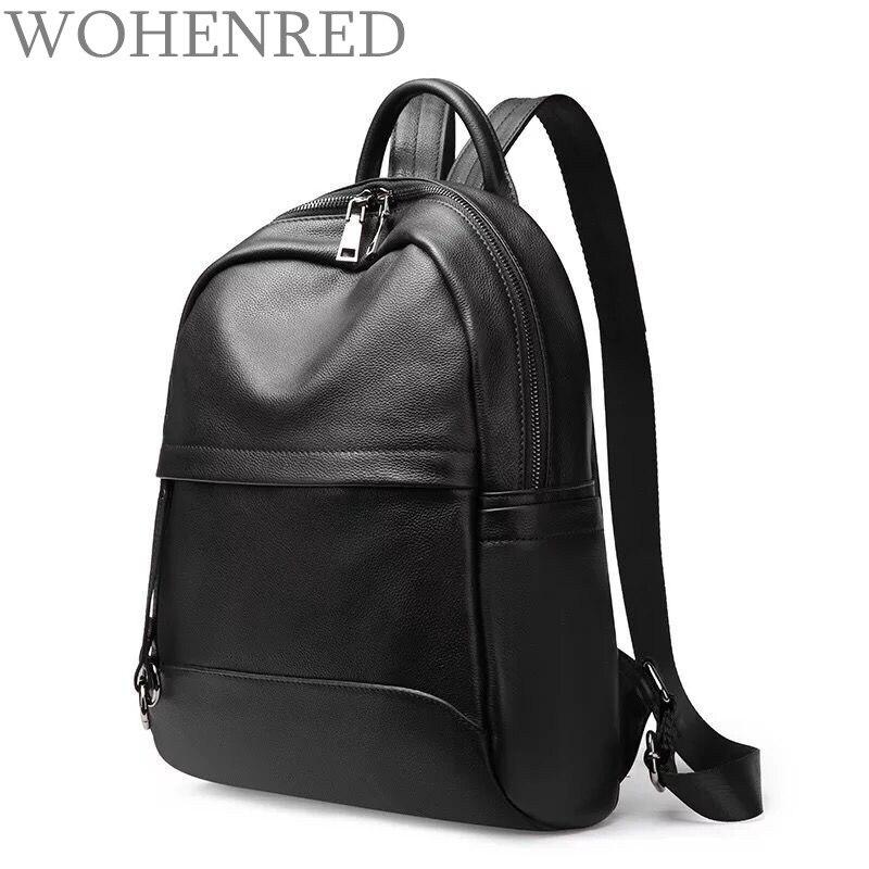 Brand Leather Backpack Women Genuine Leather Travel Bag High Quality Female Backpack Mochila Feminina School Bag For Teenagers
