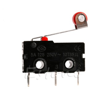 Open Roller New Normally Lever Arm Close Limit Switch Micro KW12-3 5A AC 125V-250V image