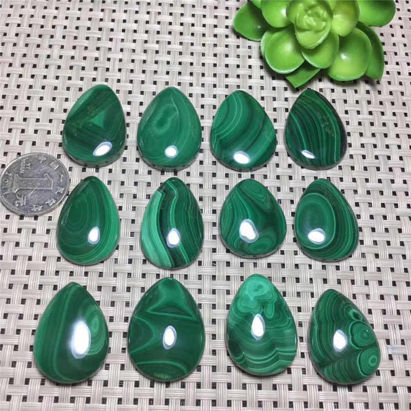 אמיתי טבעי אבן ליטוש ירוק מלכיט גלם קוורץ אבן תליון שרשרת 1pcs