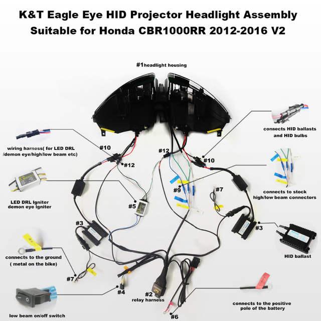 kt headlight for honda cbr1000rr 2012 2016 led eagle eye Ender's Game Diagram
