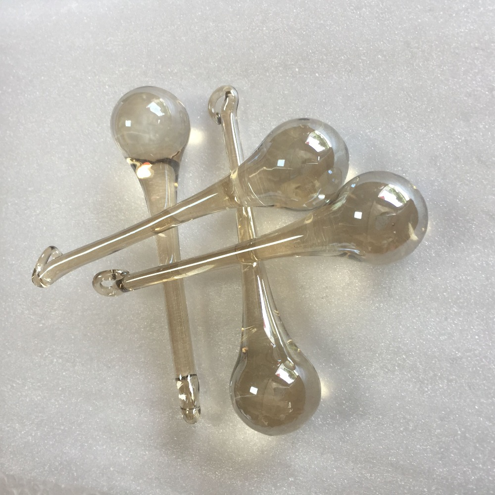 Hot Sale 126pcs/lot 20x80mm Cognac Glass Raindrop Prisms For Crystal Chandelier Parts For Home Decoration