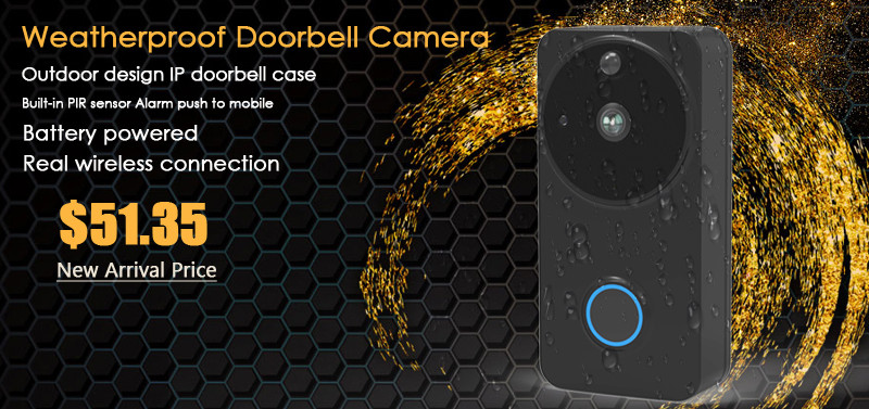 ctman new outdoor doorbell wif black