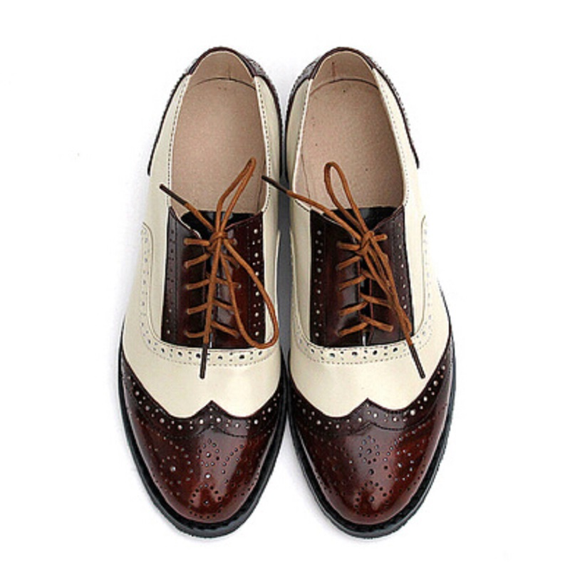Buy 2016 Fashion British Style Oxford Brogue Shoes For Women Vintage Carved