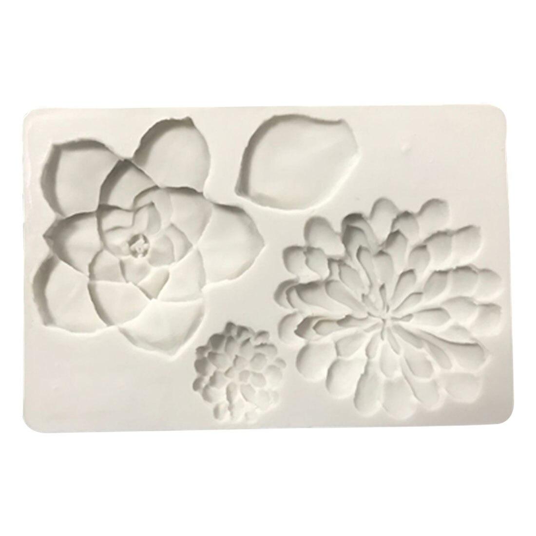 Hot Sale!Plant fleshy flowers silicone mould Fudge chocolate cake decorative mold silicone mold DIY handmade soap mold