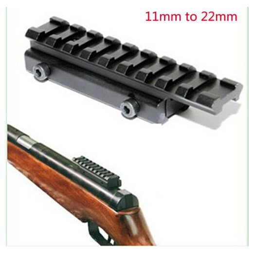 10cm Aluminum Alloy Dovetail Hunting Rifle/Airgun Mount 11mm to 20mm Base Adapter Weaver Picatinny Rail Mount Scope Extent Mount mount