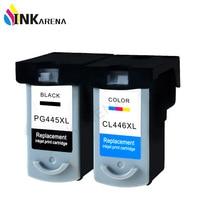 2 Pcs PG 445XL PG 445 PG445 CL446 PG445XL PG 445 CL 446 Ink Cartridges For