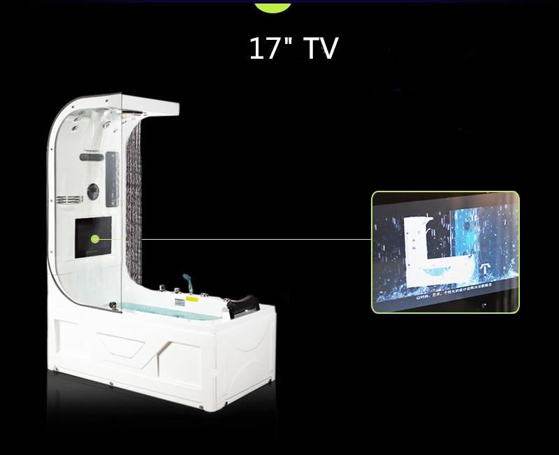 1600 luxo banheira de hidromassagem chuveiro superior tv surf & massagem banheira interior ns3220-1