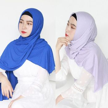 New Winter Womens Modal Wrinkle Scarf Muslim Hijab Solid Color Female Jersey Hijab Long Towel Shawl Arab Soft Headscarf 12pcs dozen mix color classic round solid magnet brooch hijab accessories muslim magnetic pin hijab scarf buckle magnet