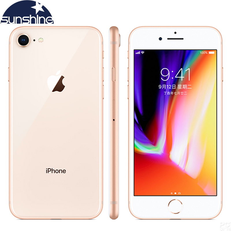 Original Apple iPhone 8 4G LTE Mobile phone 4.7''12.0 MP 2G RAM 256GB/64GB ROM Hexa-core Fingerprint Camera Cellphone