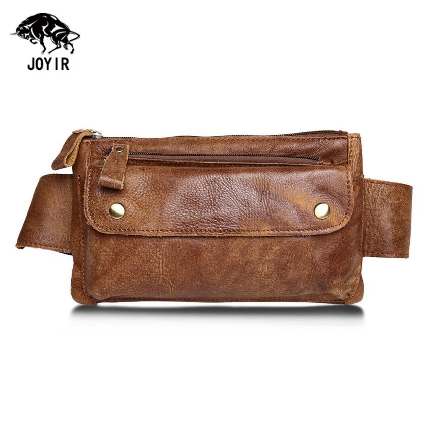 Genuine Leather Waist Bag Men Solid Phone Bag Women Money Belt Bag 2017 Men Waist Pouch