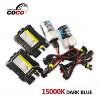 Set 12 V 35 Watt 15000 Karat Dunkelblau DC Xenon HID Kit glühbirne farbe H4 H4-2 H1 H3 H7 H8 H9 H11 9005 9006 880 881 Auto Scheinwerfer lampe