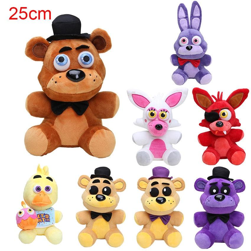 """10"""" 25cm Five Nights At Freddy's 4 FNAF Freddy Fazbear Bear Plush Toys Doll Five Nights At Freddy figure toys"""