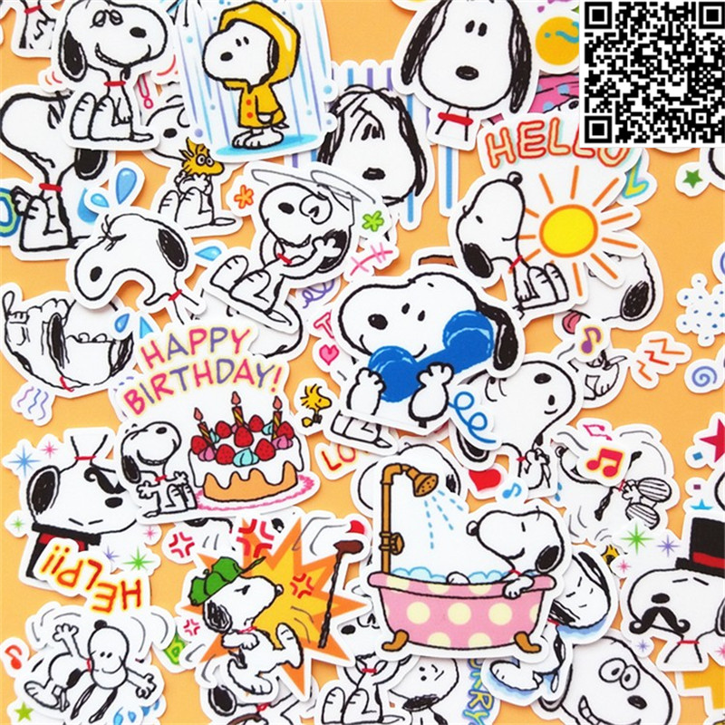 42 Pcs fCartoon dog face Sticker for Luggage Skateboard Phone Laptop Moto Bicycle Wall Guitar/Eason Stickers/DIY Scrapbooking