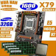 Deluxe X79 HUANANZHI motherboard CPU RAM combos processor Xeon E5 1650 v2 Memory module, memory DDR3 Memory all tested(China)