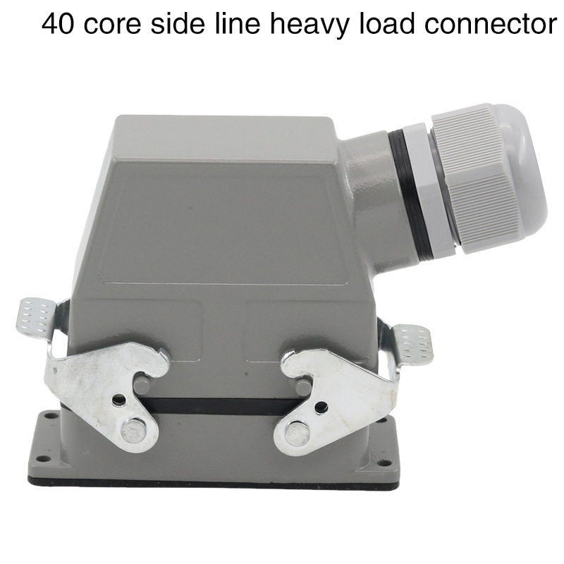 Hdc-hd-040 rectangular heavy duty connector 40 core industrial waterproof aviation plug socket male bus cold pressure 10A m12 aviation plug 8pins stragiht female or male plugs sensor connector socket connectors