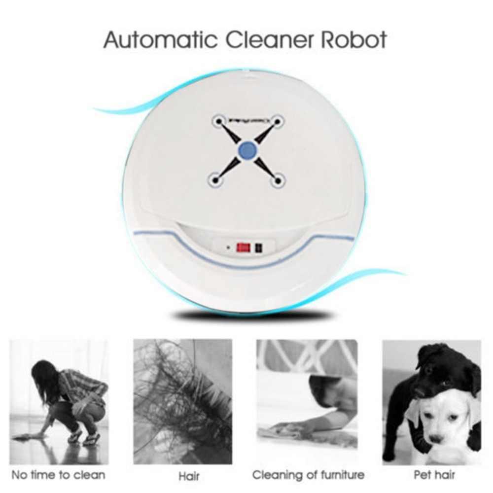 Перезаряжаемый Автоматический робот очиститель умный подметальный робот вакуумный пол от пыли и грязи очиститель для волос домашняя подметальная машина