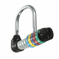Zinc Alloy 5 Dial Digit Number Combination Travel Security Safely Code Password Lock Combination Padlock Approx