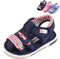 Envío gratis 1 par de sonido los niños sandalias del muchacho del verano/girl shoes longitud interior 12.5-15 cm, caucho kids/children shoes