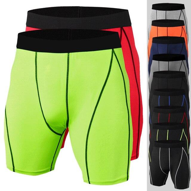 2019 חדש קיץ גברים ספורט מכנסיים קצרים כושר פיתוח גוף דחיסת ספורט חדרי כושר מכנסיים Jogger אימון ריצה קצר מכנסיים גברים