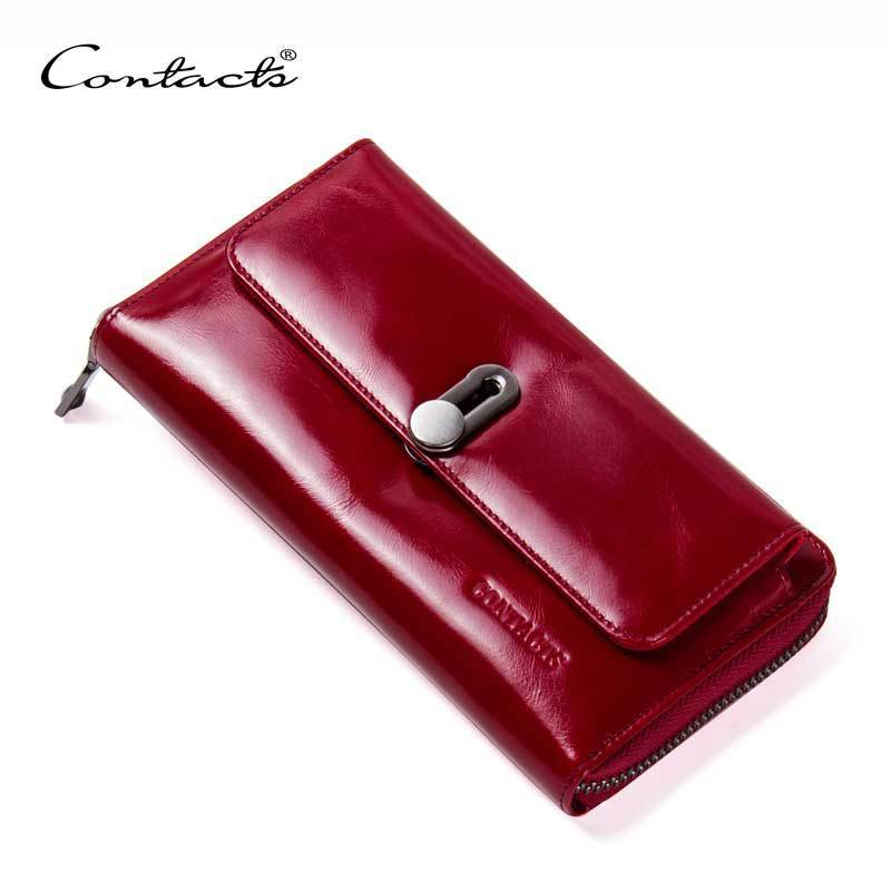 2018 New Genuine Real Leather Leisure Fashion Long Wallet Zipper Coin Purse For Ladies Female Credit Bank Card Case Phone Wallet yuanyu new hot free shipping card bag real thailand crocodile leather long wallet female fashion women day clutche purse
