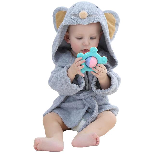 Varejo Crianças Da Menina do Menino Dos Desenhos Animados Animal Do Bebê Roupão/Bebê Com Capuz Toalha de Banho/Recém-nascidos cada toalha/toalha de Banho Infantil Robe