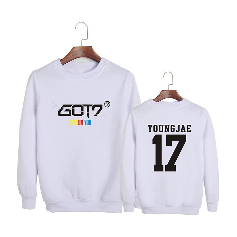 Precise Kpop Korean Fashion Got7 New Album Eyes On You O-neck Cotton Hoodies Pullovers Sweatshirts Pt721 Hoodies & Sweatshirts