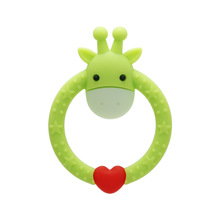 цена на Boys and Girls Round round Seer Teether Baby cartoon Silicone Teether Baby Molar stick Maternal and Child Supplies Bite Teether