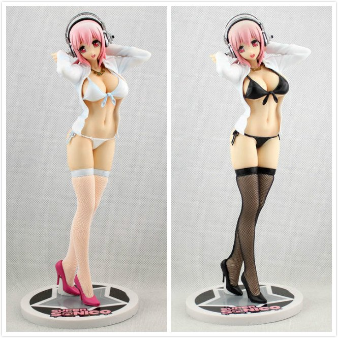 25cm Super Sonico undress style stocking pvc cartoon action figure collectible model toys anime super sonico tokonatsu ver 1 6 scale sexy painted pvc action figure collectible model toys doll 25cm