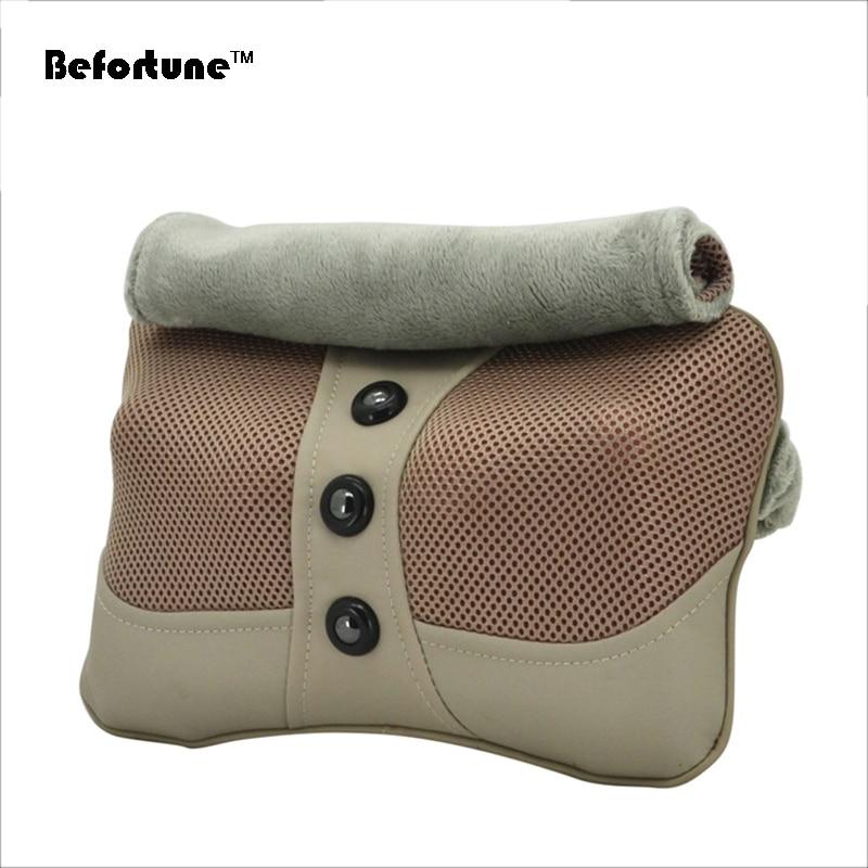 ФОТО Free Shipping Dust Proof Cloak Neck Mini Smart Shiatsu Back Massage Cushion Neck Shoulder Massage Pillow BF1601