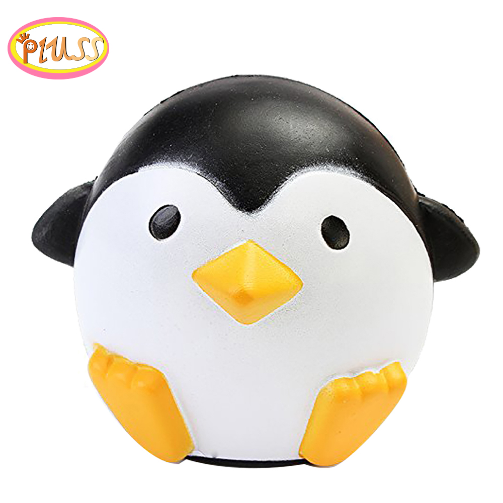 Jumbo Kawaii Animal Squishy Penguins Decompression Toy  Cream Scented Squishy Slow Rising Collections Cellphone Straps