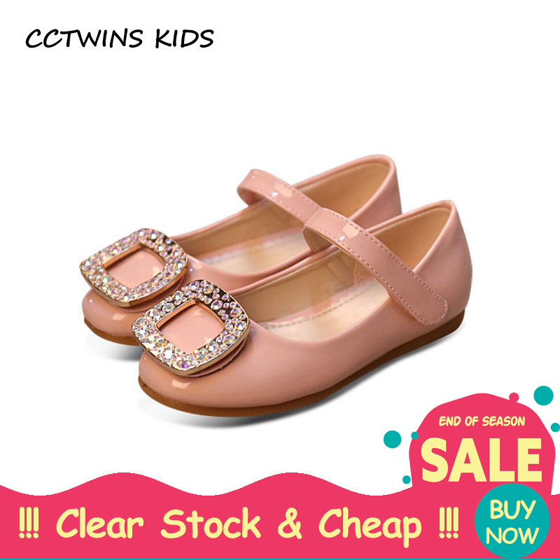 CCTWINS KIDS spring autumn children fashion rhinestone princess flats baby girl brand black mary jane kid pu leather shoe pink wendywu 2017 spring toddler fashion pu leather mary jane baby girl rhinestone princess ballet children heeled shoe black