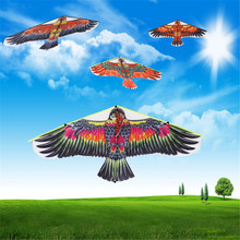 1 шт. 102*45 см летающие воздушные змеи в форме птиц ветрозащитные уличные игрушки садовая скатерть Орел воздушный змей Большой Летающий плоский Орел Птица воздушный змей для детей случайный