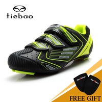 TIEBAO NEW High Quality Bicycle Cycling Road Bike Shoes Ultra Light Bike Shoes Highway Road Bike Self Locking Athletic Shoes