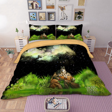 Wongsbedding Dropshipping 3D Wolf Duvet Cover Set 3pcs Single Double Queen King Bedclothes Bedding Sets